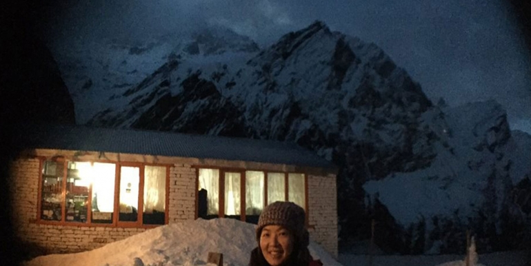 Annapurna Base camp hotel at Night