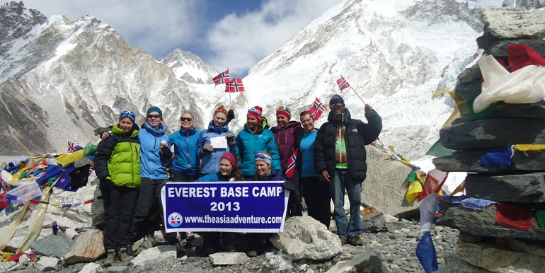 Group in Base Camp