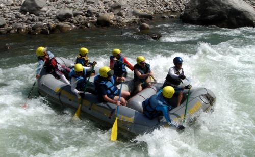 Rafting Over Trisuli River